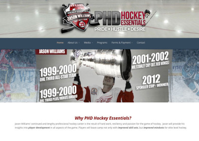 PHDHockey – Website Design