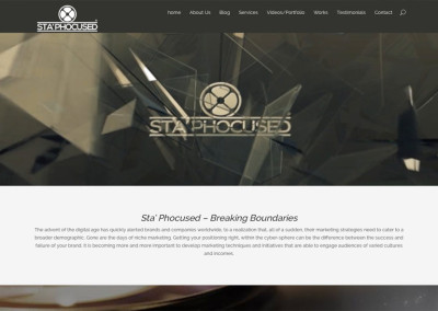 Sta Phocused – Website Design